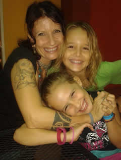 Crystal Anne Mitchell and kids