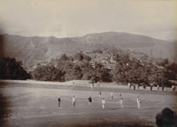 View of Almora, with soldiers of 3rd Gurkha Rifles, 1895