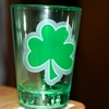 St Patrick's Day glass